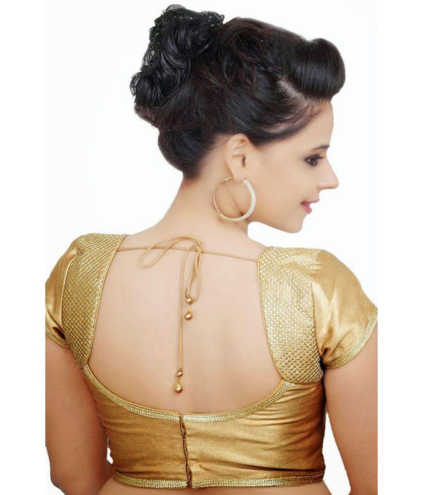 Samyakk Gold Silk Designer Blouse Buy Samyakk Gold Silk Designer
