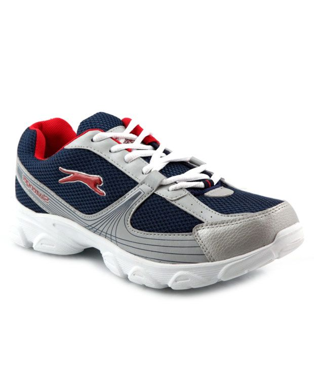 Slanzenger Trendy Silver & Blue Sports Shoes