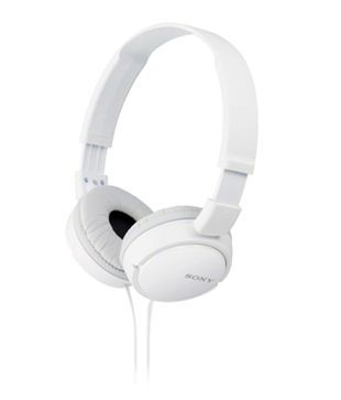 Sony MDR ZX110A On Ear Street Style Headphones  White  Without Mic