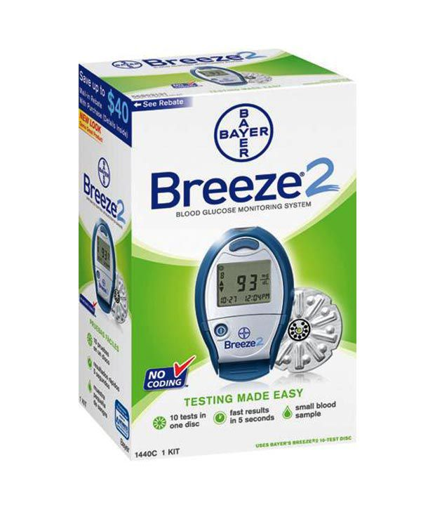 Bayer Breeze 2 Blood Glucose Monitoring System Buy Online