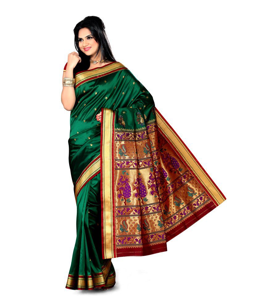 e0ec16159 Green silk saree online