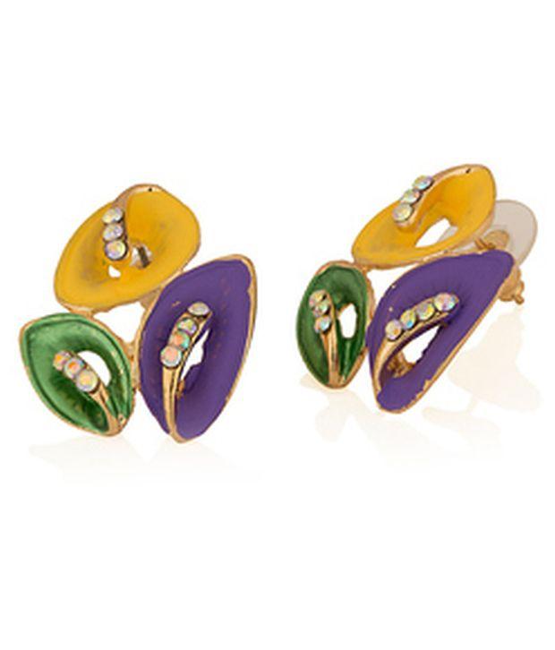 Voylla Multicolour Sparkle Earrings