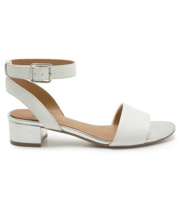 f95fb199a56 Clarks Elegant White Ankle Strap Sandals Clarks Elegant White Ankle Strap  Sandals ...