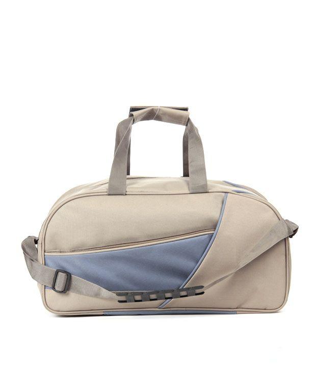 Wallets n Bags Khaki & Blue Hai Max Duffle Bag