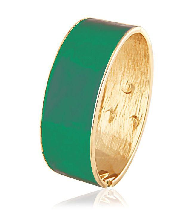 KBK Jewels Green Metallic Finish Bangle