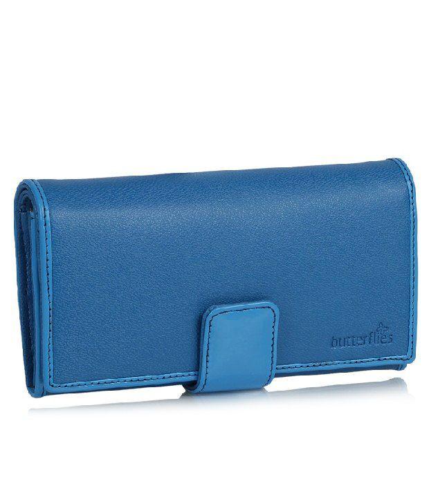 Butterflies Blue Wallet