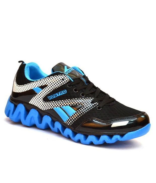 Vostro Victorious Black And Blue Sports Shoes