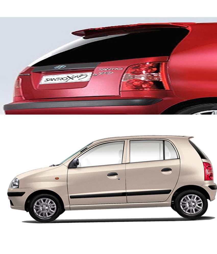 shopper s hub car body coloured spoiler hyundai santro xing rh snapdeal com