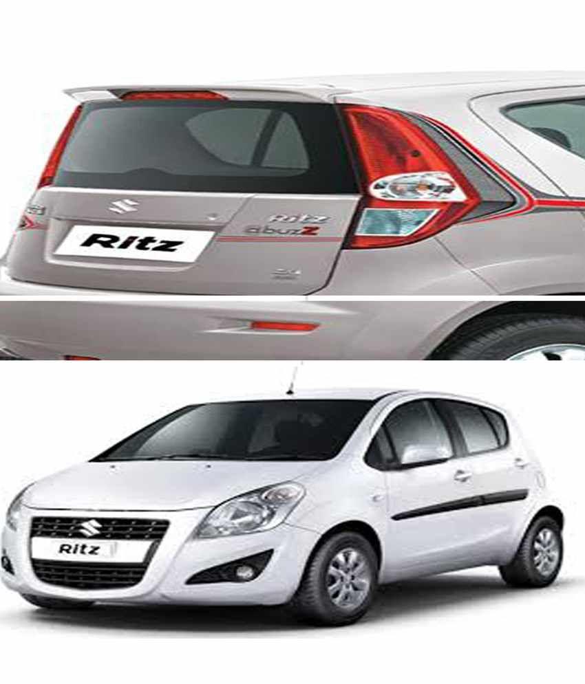 shopper s hub car body coloured spoiler maruti suzuki ritz rh snapdeal com