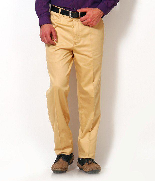 Just Henry Khakhi Cotton Formal Double Pocket Trouser
