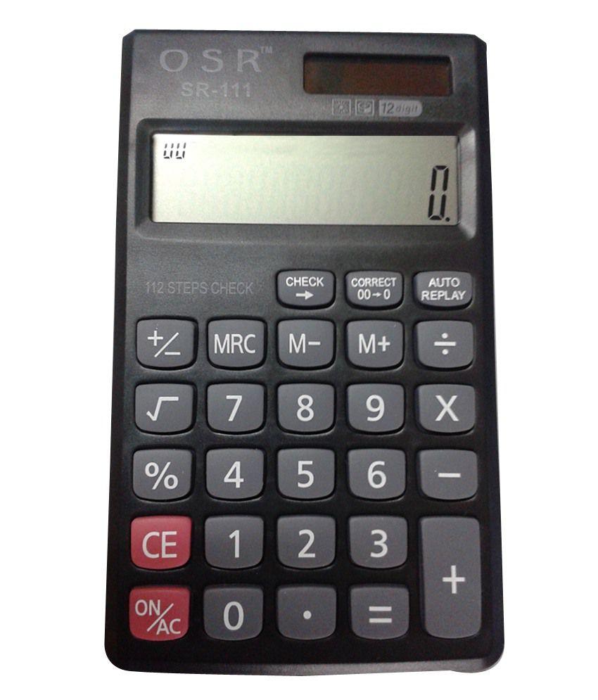 osr basic calculator sr 111 buy online at best price in. Black Bedroom Furniture Sets. Home Design Ideas