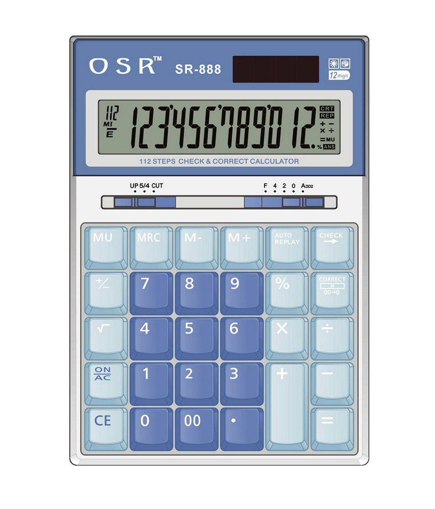 osr basic calculator sr 888 buy online at best price in. Black Bedroom Furniture Sets. Home Design Ideas