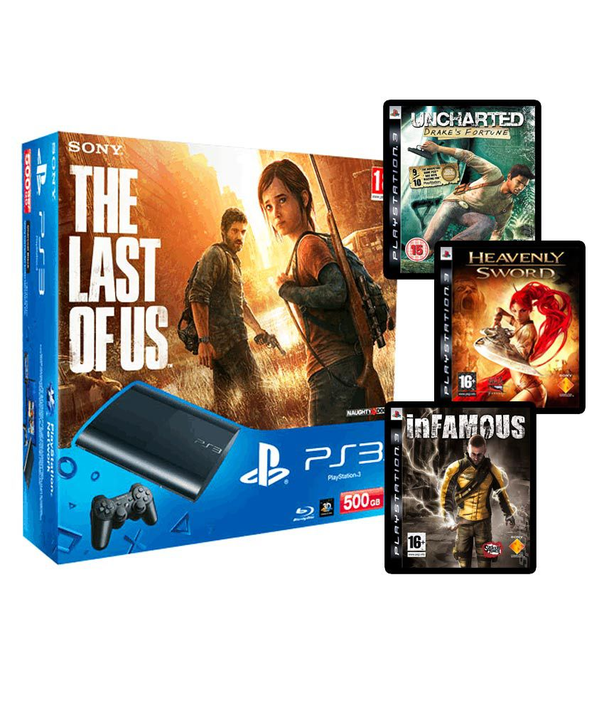 Sony Playstation 3 (500GB) Slim The Last of Us Bundle (With 3 Games Free)