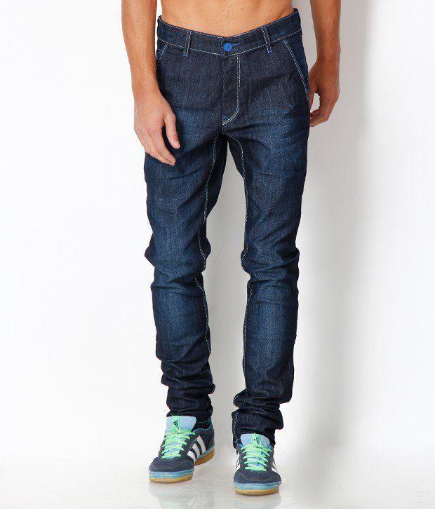 HDI Navy Blue Regular Fit Basic