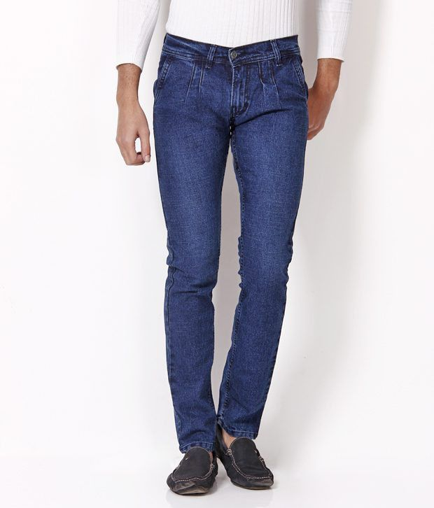 HDI Sober Blue Jeans with Free Wallet
