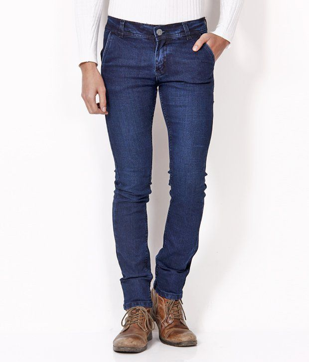 HDI Voguish Navy Blue Jeans with Free Sunglasses