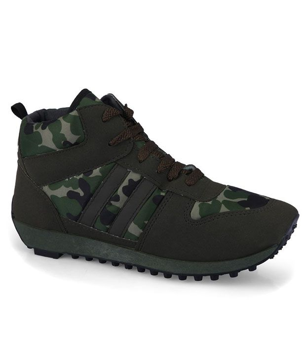 Buy Unistar Military Print Green Casual