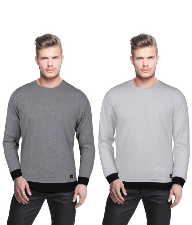 Rigo Cool Pack Of 2 Grey T Shirts