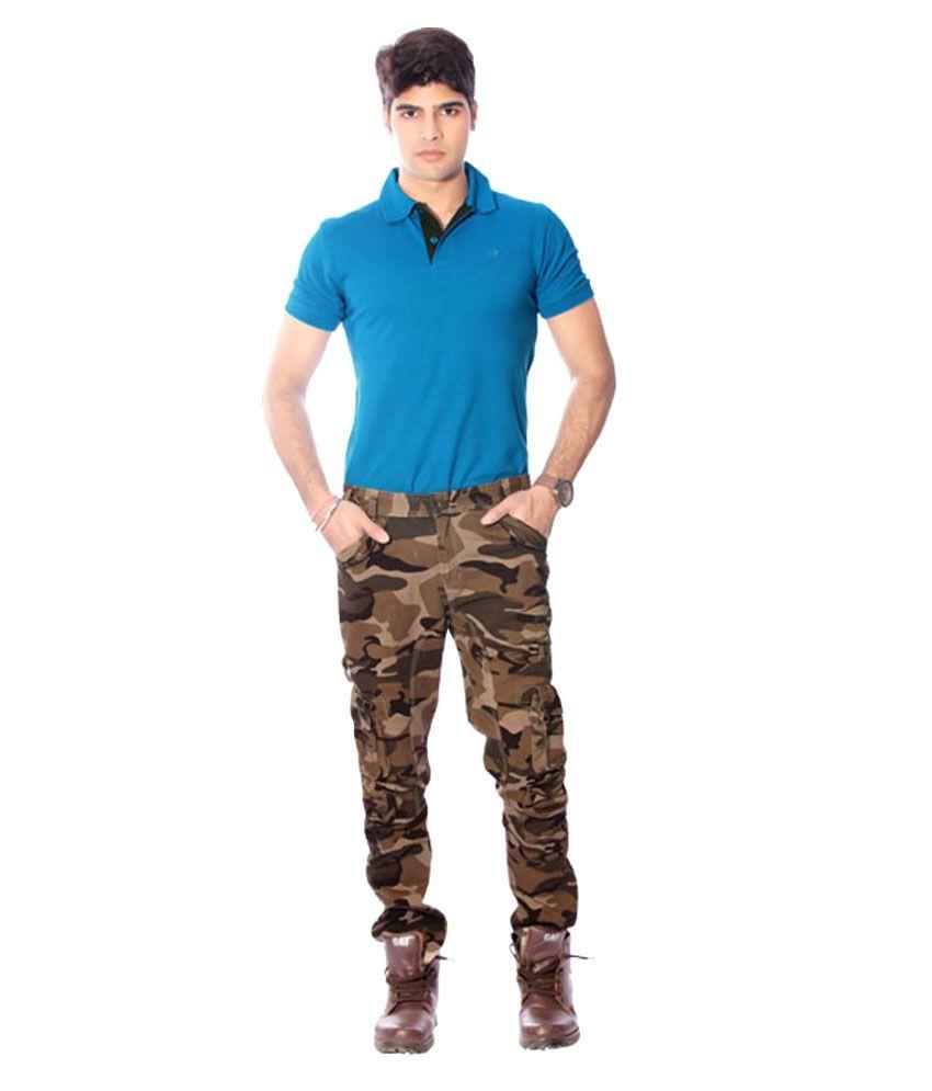 Madcaps Premium Casual Military Army Camouflage Camo Combat Dark Brown Work Cargo Pant