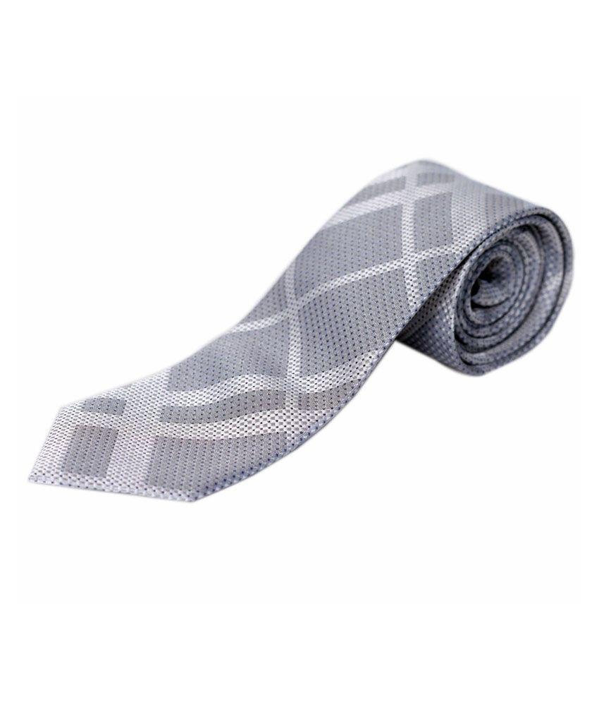 Blacksmithh Grey Colour Necktie