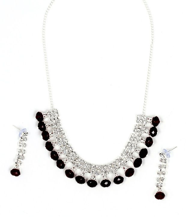 Ethnic Jewels Austrian Diamond Contemporary Necklace Set