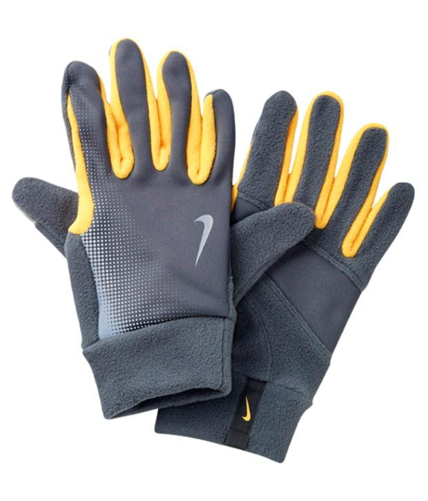 Nike Thermal Gloves: Nike Mens Thermal Tech Running Gloves Size- L (Grey