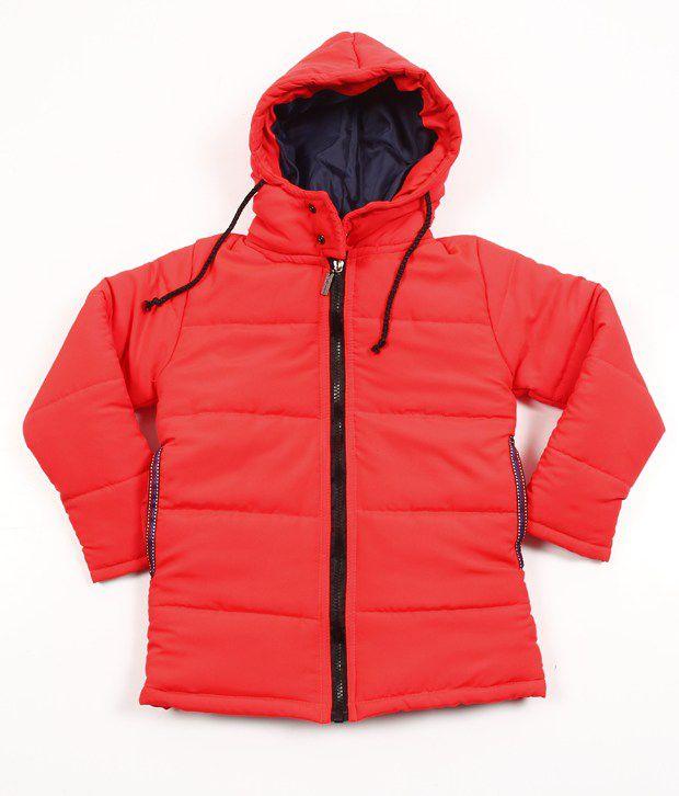 Riya N Zoe Full Sleeve Poly Tafta Orange Jacket For Kids