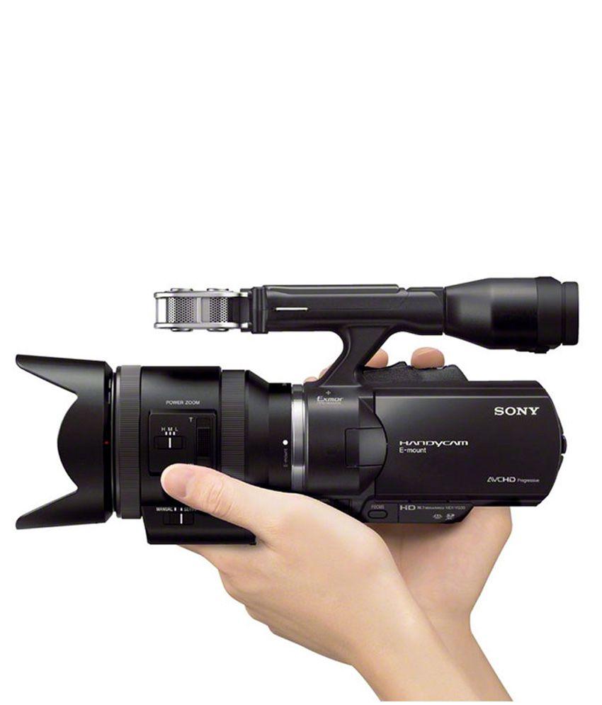 Sony Full-Frame Interchangeable Lens NEX-VG900E/B 24.3MP Camcorder ...