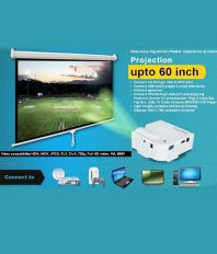 UNIC High Definition Multimedia Advanced LED Projector with HDMI & VGA