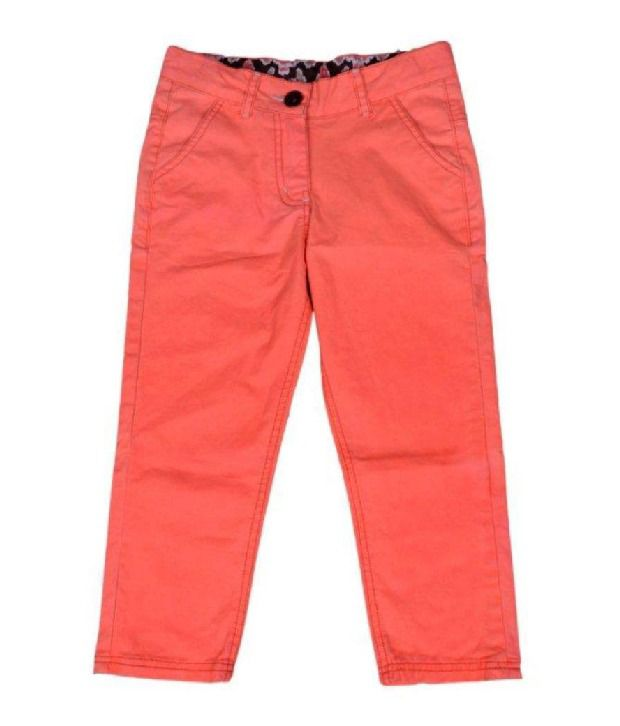 612Ivyleague Orange Capri For Kids