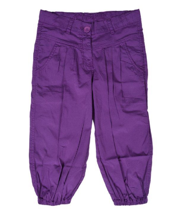612Ivyleague Plum Poplin Capri For Kids