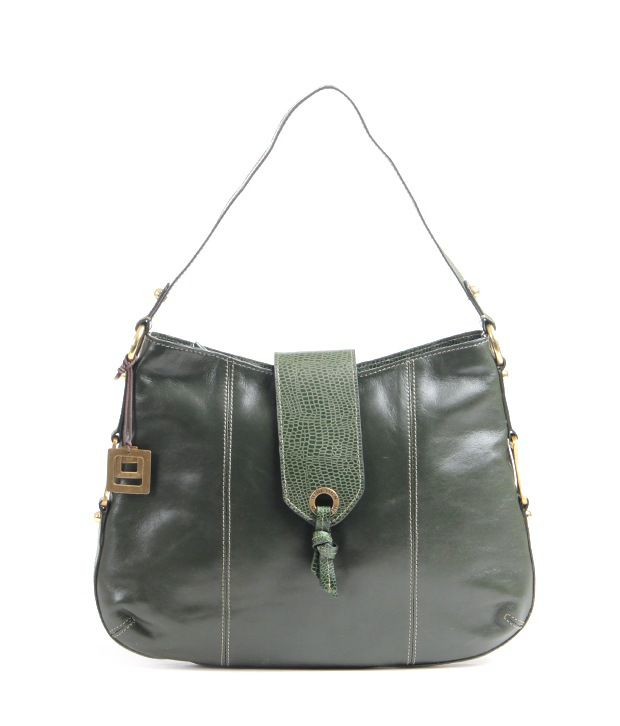 Hidesign Indus 02 (R) Lizard Green Shoulder Bag