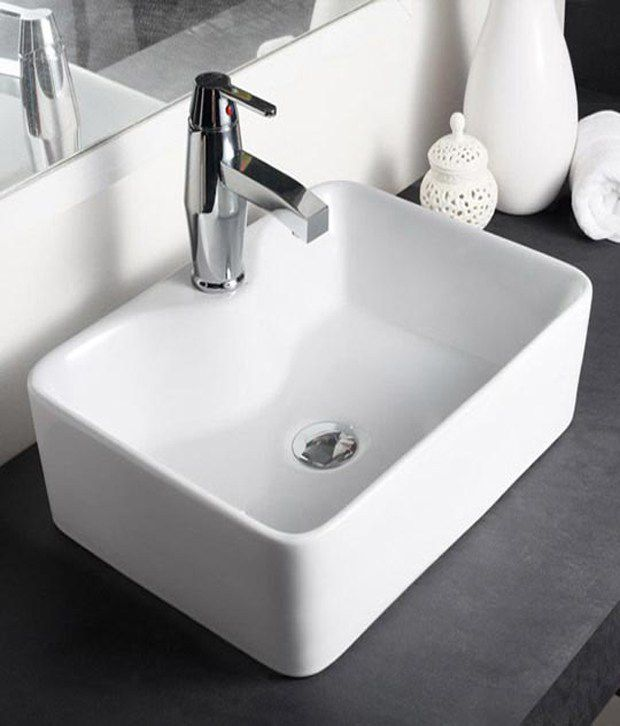 Buy Hindware Table Top Basin Vasca Ivory 91066i Online