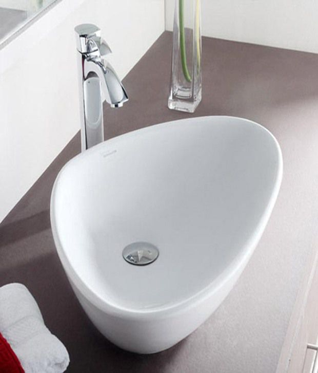 buy hindware table top basin wave white 91042 online at low rh snapdeal com