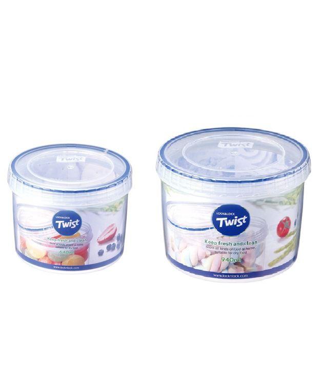 Lock N Lock Round Twist Container Set Of 2 Buy Online At