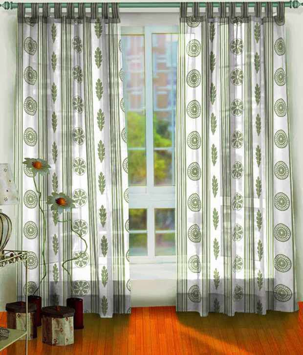 Ocean Collections Set of 2 Window Tab Top Curtains Contemporary ...