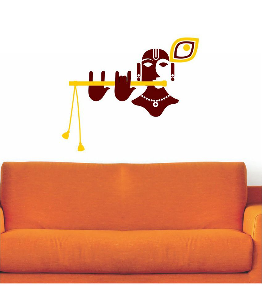 Wall stickers radha krishna - Chipakk Minimalist Shri Krishna Wall Sticker