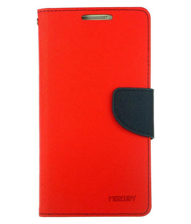 Dressmyphone Textured Leather Flip Cover for Sony Xperia C - Red