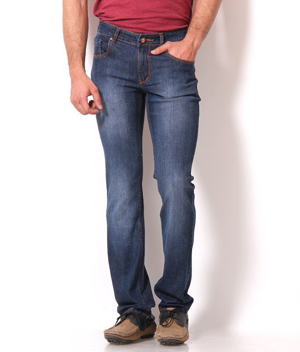 Harvest Blue Jeans With Free Sports Watch