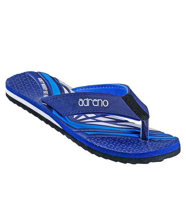 Adreno Quirky Navy Blue Flip Flops