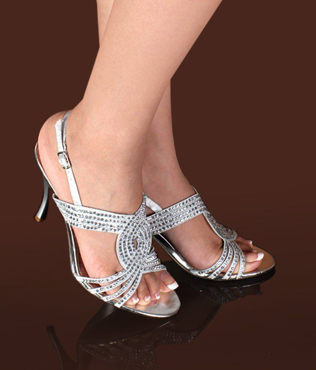 Ameise Spectacular Silver Stiletto Sandals