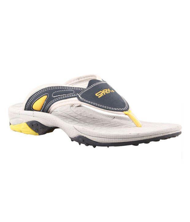 Bata SparxXJ2 Navy Blue & Yellow Slippers