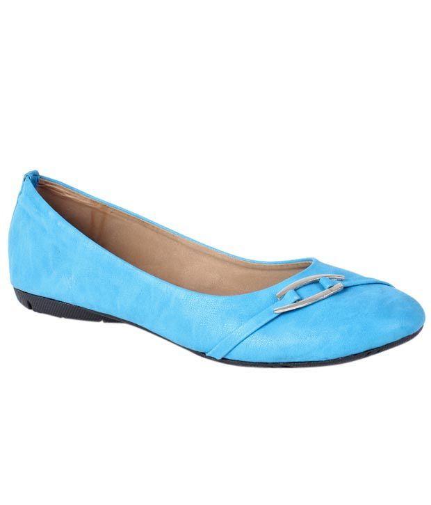Butterfly Turquoise Blue Textured Finish Ballerina