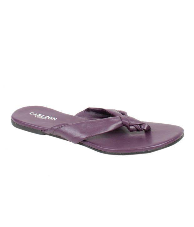 Carlton London Imposing Purple Flat Slippers
