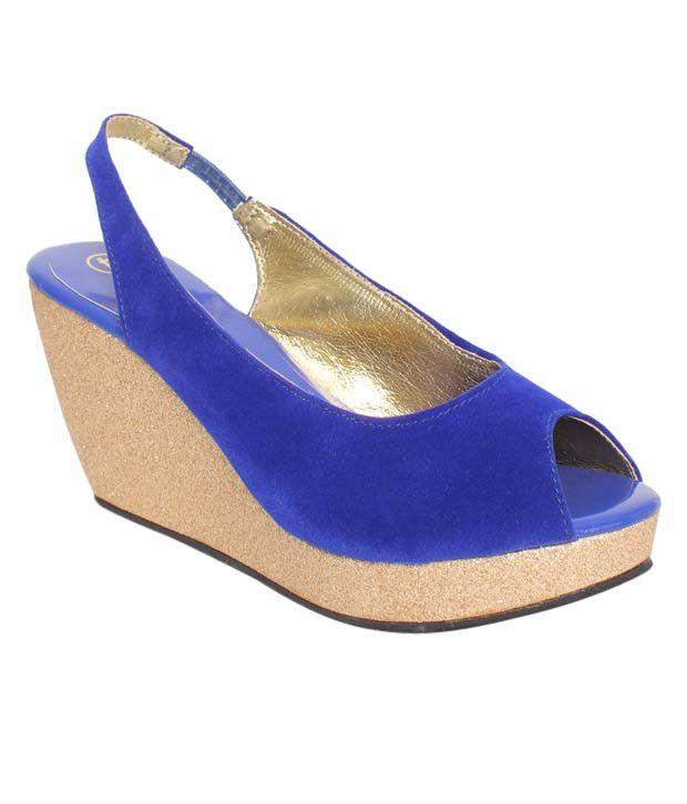 carlton royal blue wedge heel sandals price in
