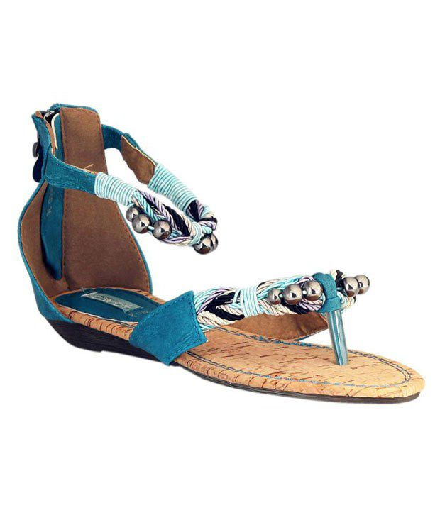 Catwalk Blue Ghungroo Sandals