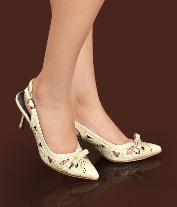 Catwalk Fabulous Beige Court Shoes