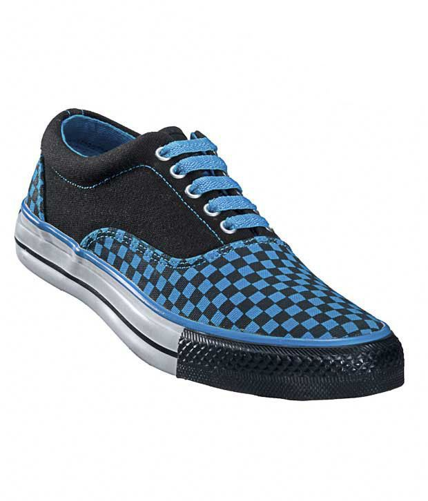 Converse Black & Blue Checkered Unisex Sneakers