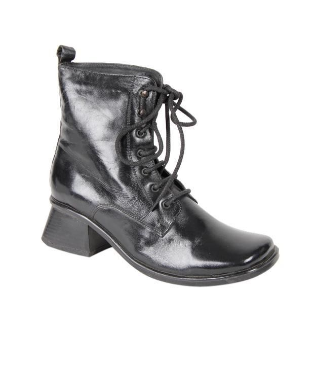 Euro Star Stylish Black Mid Calf Boots
