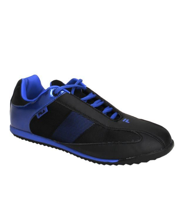 Fila Tough Black & Royal Blue Sports Shoes